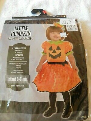 Little Pumpkin 2 Piece Costume Infant Size 0-6 Months So Cute, New  ](Cute Infant Costumes)