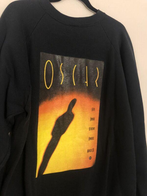 1991 Vintage Academy Awards Oscars Movie TV Promo Crew Nominee Sweatshirt XXL