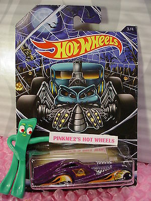 Rods #3 SCREAMLINER∞Purple/Yellow;Pumpkin☠Kmart Hot Wheels (Halloween Kmart)