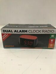 Sylvania Dual Alarm Clock Radio with Large LED Display