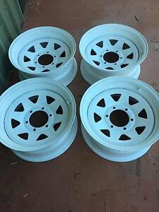 Sunraysia  15 x 8 Steel Mag Wheels to fit 15 x 10 4WD Tyres x 4 Redlynch Cairns City Preview
