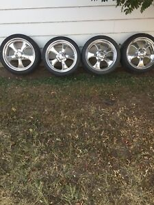 """REDUCED 18""""schotts Americana rims and tires forsale"""