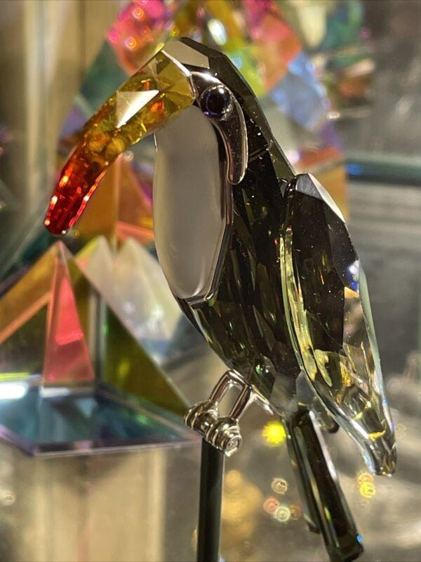 Swarovski Swan Signed Paradise Crystal Belyaka  Toucan Bird Figurine