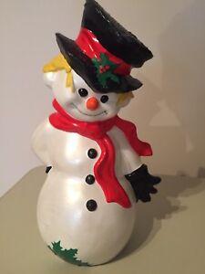 Handmade Ceramic Snowman