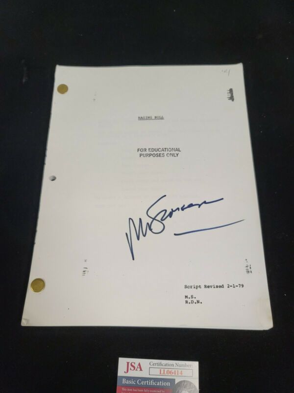 MARTIN SCORSESE SIGNED RAGING BULL FULL 106 PAGE SCRIPT JSA AUTHENTICATED
