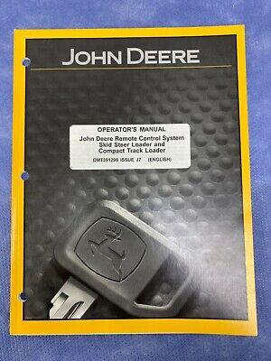 John Deere Omt391298 Operators Manual For Remote Control System On Skid Steer