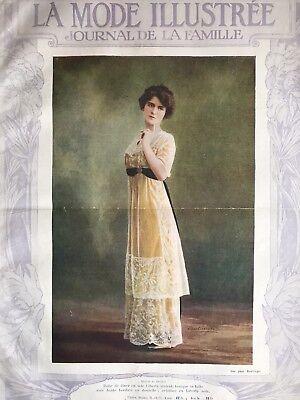 Edwardian  MODE ILLUSTREE March 26,1911+multi sewing PATTERN sheet