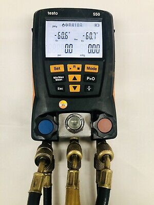Testo 550 Digital Manifold Kit With Bluetooth And W Hoses