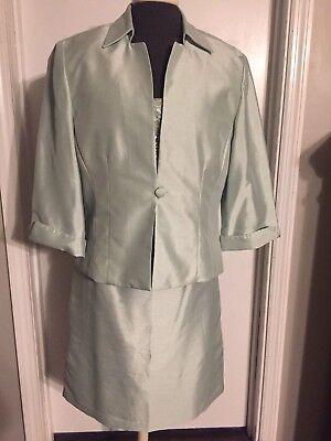 Howard 3 Piece Suit (3 Piece Jessica Howard evenings Skirt Suit, Light Green (mint), Size 12 -)