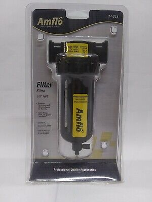Amflo Air Compressor Airline Inline Particlewater Filter 24-313 38 Npt. Q