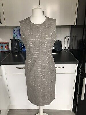 Iris & Ink Grey Print Dress Size UK 12