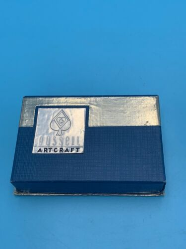 RUSSELL ARTCRAFT COMPETE DECK PLAYING CARDS VINTAGE OLD DECK IN BOX