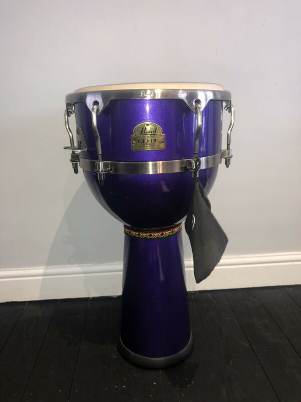 Pearl Elite Series Djembe Purple Percussion Drum Instrument