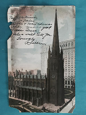 Trinity Building Church American Surety New York Posted 1907 Vintage Postcard