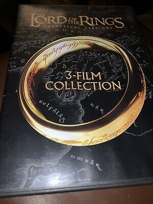 LORD OF THE RINGS Trilogy 3-FILM COLLECTION DVD 3-DISC SET  GUARANTEED
