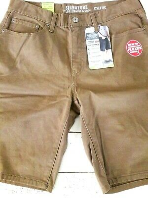 Mens Levi Strauss Stretch  Flex Shorts Relaxed Athletic Fit 32 36 38 40 Toffea