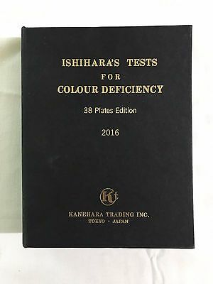 38 Plate Ishihara Tests Book For Color Blindness Free Shipping