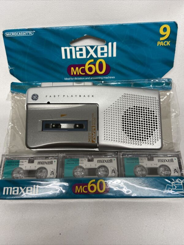 GE 3-5377A MICRO CASSETTE PLAYER VOICE RECORDER FAST PLAYBACK+ 3 NEW Cassettes