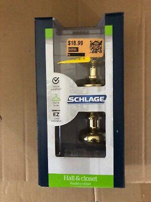 Schlage Brass Hall And Closet Lockset