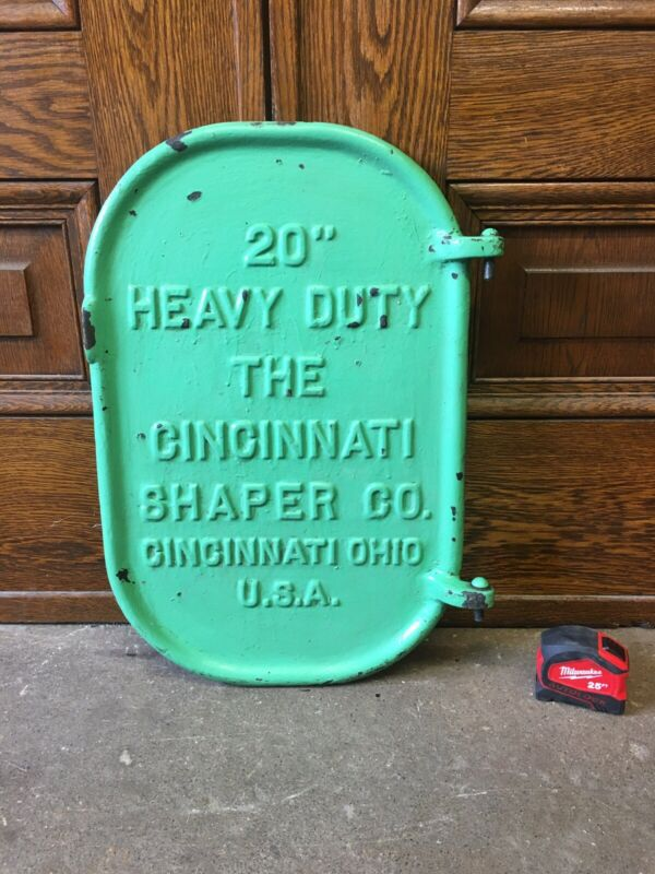 Vintage Cast Iron Machine Base Door Industrial Heavy Cincinnati Shaper Co. USA