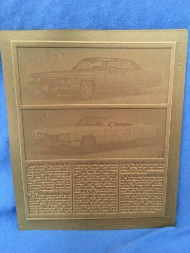 1972 Cadillac Eldorado Convertible & Sedan De Ville Vintage Advertising Graphics