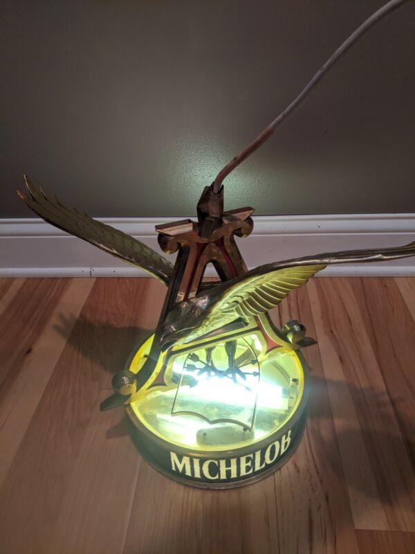 Rare Anheuser Busch Michelob Rotating Motion Beer Hanging Ceiling Light Sign