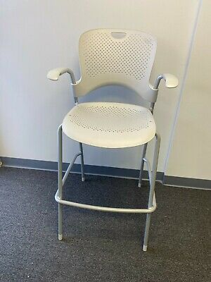 Herman Miller Caper Side Chair W Arms Light Grey Stacking Side Chair Stool
