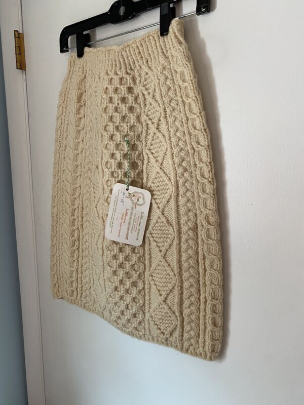 Loch Garman Hand Knit Fisherman Sweater Skirt Sz Small