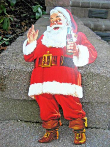 Vintage Coca Cola Santa Claus Die Cut Cardboard Advertisement