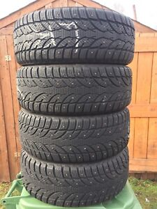 p205/55/16 inch Studded Winter Tires / LOTS OF TREAD