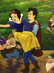 Snow White and seven Dwarfs Disney artwork giclee on canvas