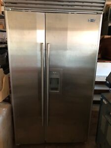 Stainless Steel Subzero Side by Side Fridge & Freezer