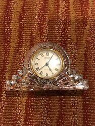 Vintage Crystal Legends By Godinger Glass Lead Crystal Large Mantle Clock