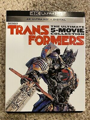 Transformers 5 movie collection  (4K UHD) NO DIGITAL! Like New!