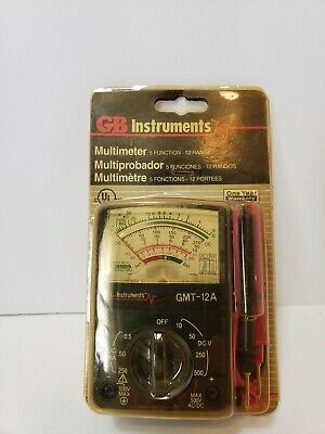 Vintage Gb Instruments Gmt 12a Multimeter 5 Function 12 Range Nos