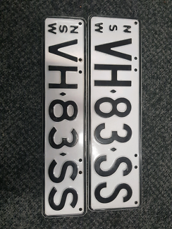 VH-83-SS NUMBER PLATES COMMODORE SLE HDT HSV BROCK VB VC VK VL