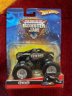 2007 Hot Wheels Monster Jam COWBOY #2 1:64 Diecast Monster Truck, New on Card