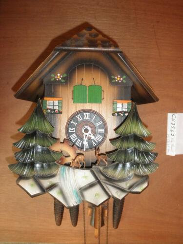 German made working SEE VIDEO Herr musical Chalet  1 Day Cuckoo Clock CK2562