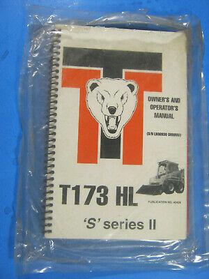 Thomas T-173 Hls Ii S Skid Steer Loader Owners Operators Manual Oem Factory