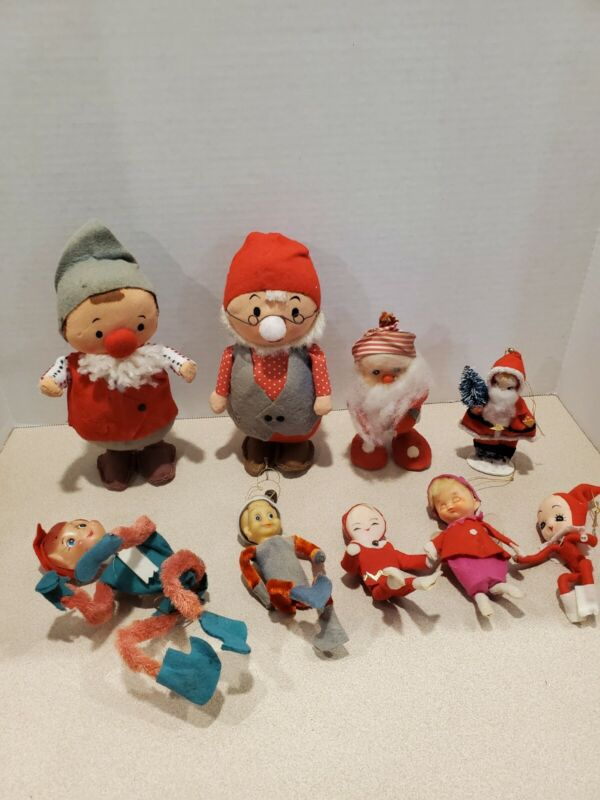 Lot Of 9 50s And 60s Vintage Elves Made In Japan