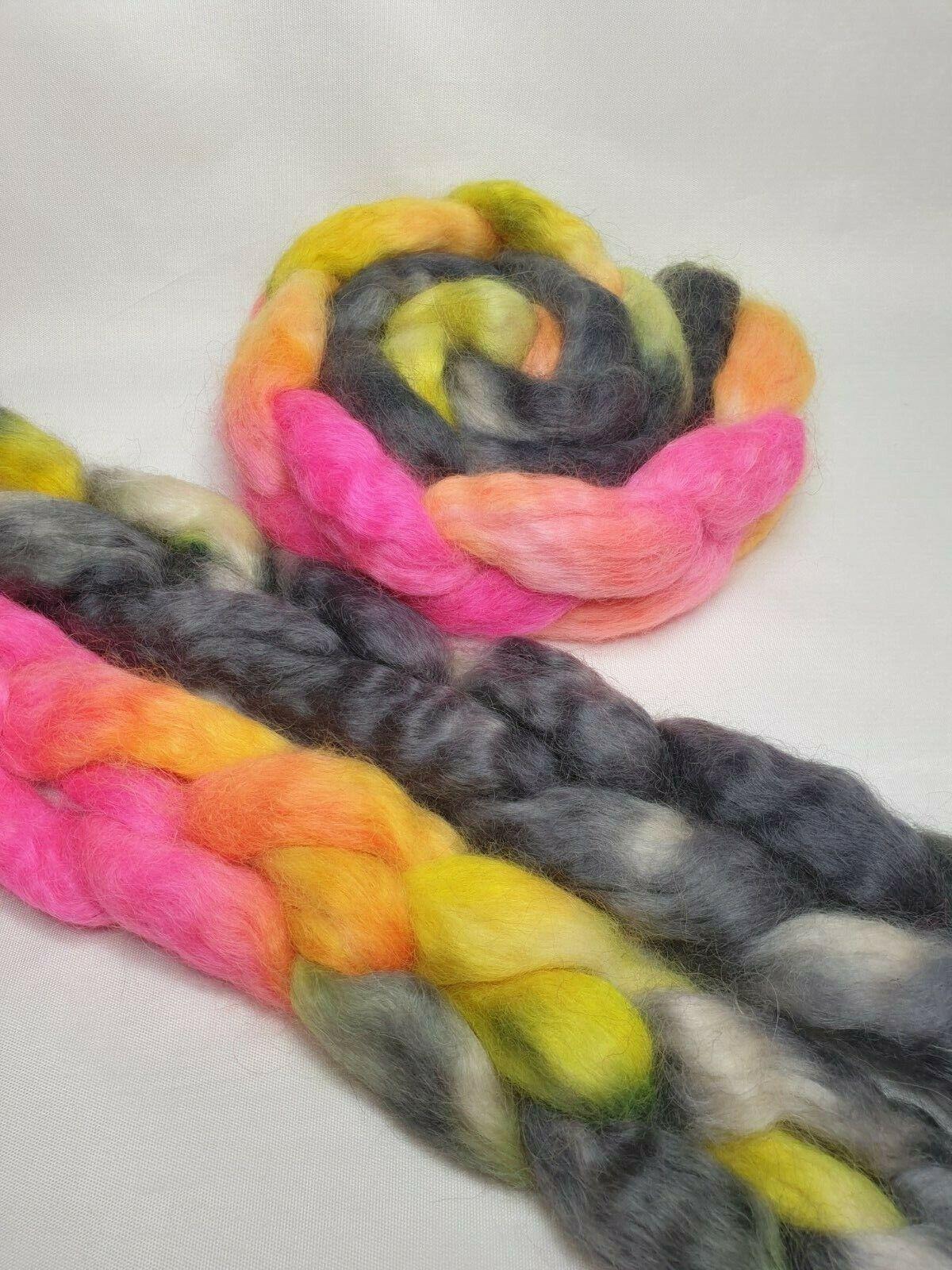 как выглядит Hand dyed British Wensleydale Longwool, wool top, 100 g, SUNDROPS фото