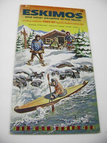 VTG PAPER TOY DOLLS 1962 ESKIMOS GOLDEN FUNTIME PUNCH BOOK UNUSED!!!  giant