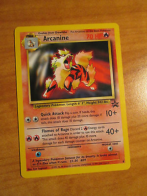 NM Pokemon ARCANINE Card BLACK STAR PROMO Set #6 Wizards of the Coast WOTC TCG