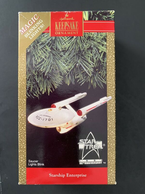 Hallmark 1991 Ornament Star Trek STARSHIP ENTERPRISE 25th Anniversary