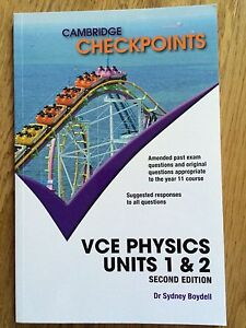 Cambridge Checkpoints VCE PHYSICS unit 1,2 Beaumaris Bayside Area Preview