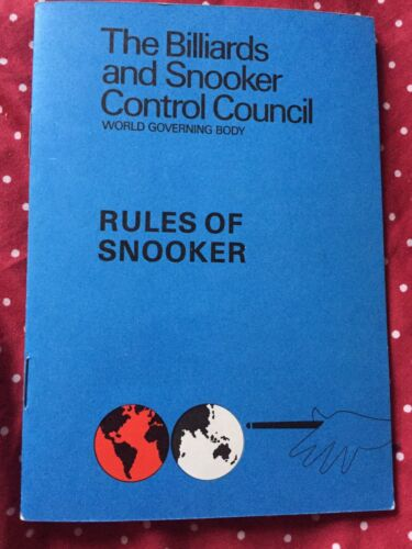 Small Vintage Collectible Rules Of Snooker Booklet 1983 MINT