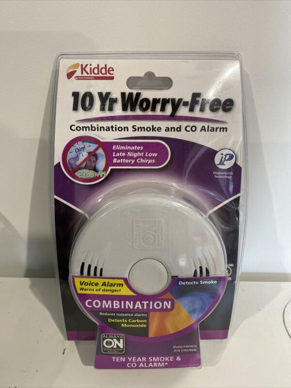 Kidde P3010CU 10-Year Worry Free combination smoke and carbon monoxide detector