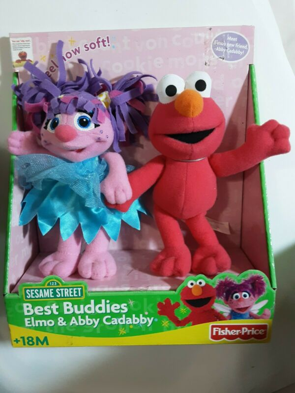 Fisher Price Sesame Street Best Buddies Elmo & Abby Cadabby Soft Toys