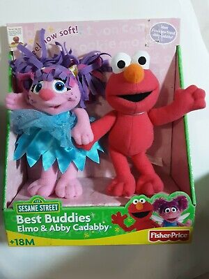 Fisher Price Sesame Street Best Buddies Elmo & Abby Cadabby Soft Toys