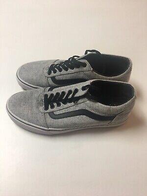 Vans Old Skool Gray Men's Shoes Size 9